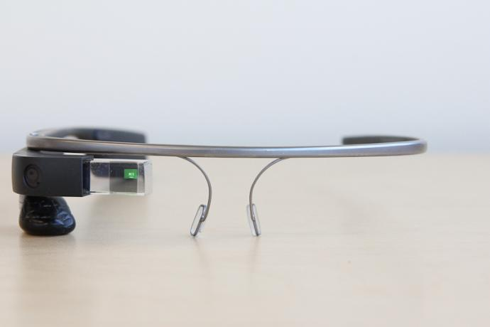 Google Glass Front with Display