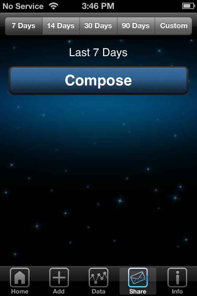 iBG*Star Diabetes Manager App - Share Data, Compose Email