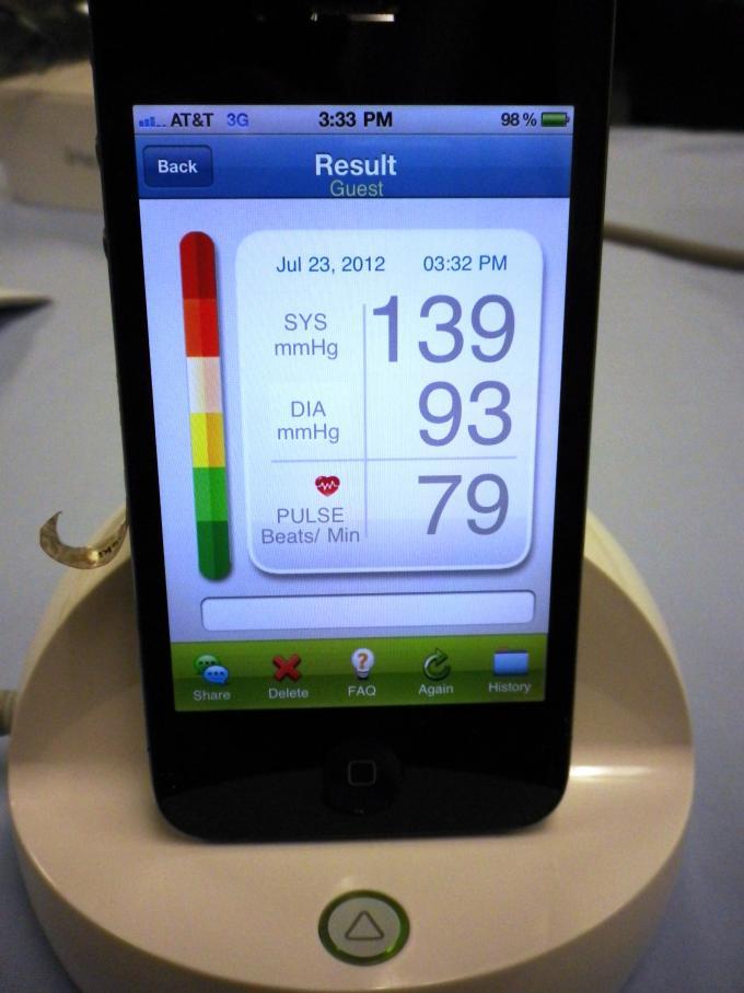 Mobile BP - iHealth BP3 Display